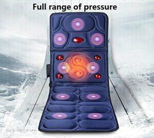 AMYMGLL Matelas de Massage Chauffant Multifonction Choc électrique Corps Couverture de Massage Personnes âgées Coussins de Massage équipement de Massage de santé de Taille Pliable, 1