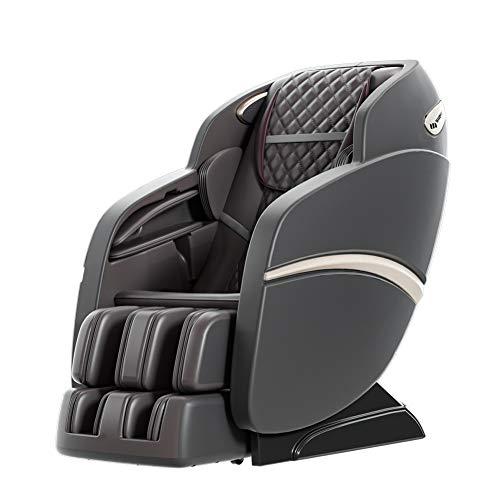 cysum home fauteuil de massage automatique, fauteuil inclinable de massage d'acupuncture 3D, massage complet du corps et pétrissage fauteuil de massage multifonctionnel, canapé électrique (Noir)