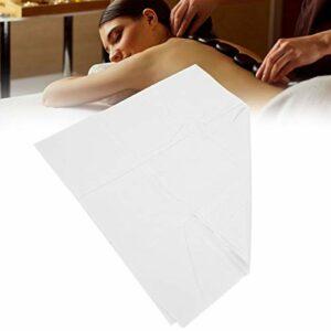 Draps jetables, draps d'hôtel, draps de massage à perméabilité portable, anti-salissures pour voyages d'affaires Matelas de massage Saunas de beauté(68 * 168 white)