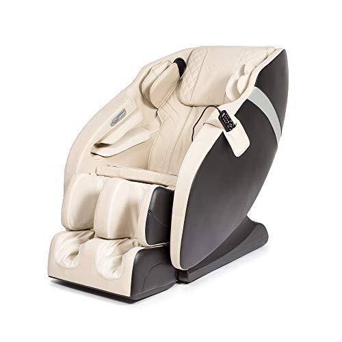 KARMA® 2D Fauteuil de massage – Blanc (modèle 2021) - 6 programmes de massage professionnels, pressothérapie, thermothérapie, réflexothérapie plantaire, Espace et Gravité «Zéro», son 3D, Bluetooth