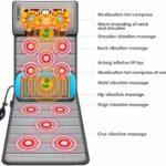 Tapis de Massage, Matelas Massant Chauffant avec 10 vibrations et 6 chauffages pour soulager les douleurs au cou, au dos et à la taille