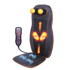 Aocase Massageurs de Shiatsu Massagers Massageurs au Cou et arrière-arrière avec Chaleur, pavé de Fauteuil de Massage malaxé avec intensité réglable, Masseur électrique pour Le Cou arrière devrait