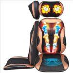 Coussin de Massage Shiatsu,siège de Massage avec 3 Zones de Massage, Fonction Chaleur, Massage du Cou, du Dos, des Fesses, Hauteur réglable Convient à Chaque Chaise avec télécommande