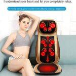 ELXSZJ XTZJ Masseur de Dos et Cou pour la Chaise – Coussin de Coussin de siège de Massage de Shiatsu avec réglage de la Chaleur et de la Hauteur (Color : Beige)
