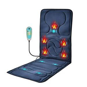 ELXSZJ XTZJ Tapis de Massage Complet du Corps Comfier avec Tampon de Chaise de Massage de Chaleur avec 9 Moteurs de Vibration avec arrêt Automatique, Tampon de Matelas de Massage chauffé pour Le Dos