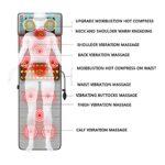 MGIZLJJ Tapis De Massage Complet du Corps avec Chaleur, Massage du Dos Siège De Massage, Tapis De Massage Shiatsu Multifonction avec 9 Modes De Massage 10 Moteur De Vibration