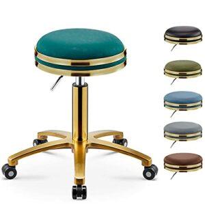 QLIGAH Tabouret de salon hydraulique réglable en hauteur avec poulies rotatives et siège de massage à 360 degrés