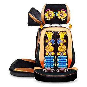SQQSLZY Masseur à dos et au cou en 3D de pétrissage, coussin de coussin de siège de massage, avec réglage de la chaleur et de la hauteur, pour la taille de l'épaule et la taille arrière, corps complet