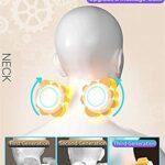 XTZJ Comfier Retour Back Massager avec chaleur -2D / 3D Coussin de siège de massage Shiatsu avec 10 nœuds de massage, tampon de chaise de massage, patins de massage à pétrissage roulant pour le dos