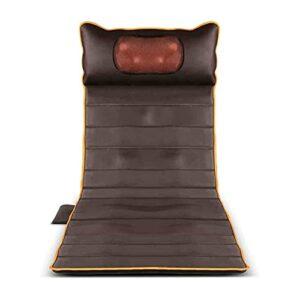 XTZJ Tapis de massage complet du corps Comfier avec tampon de chaise de massage de chaleur avec 10 moteurs de vibration et coussin chauffant 2 Thérapie, tampon de matelas de massage chauffé pour le do