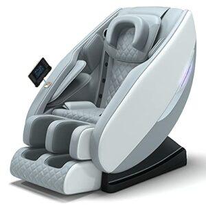 AYIYUN Fauteuil de massage multifonction pour tout le corps, avec Bluetooth, soulage la fatigue corporelle, convient pour la maison et le bureau (gris)