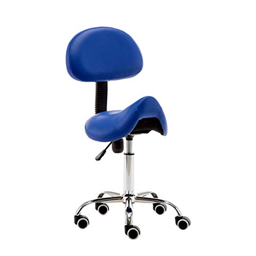 Calyvina Tabouret de Selle Ergonomique avec siège de Massage pivotant et pivotant réglable,Blue