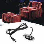 Eosnow Contrôleur de canapé électrique, contrôleur de canapé en matériau ABS Contrôleur de canapé à 2 Boutons pour Fauteuil de Massage électrique et Autres chaises élévatrices(Straight, 12)