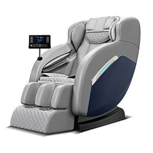 Fauteuil de massage, chaise de massage électrique pour tout le corps, Bluetooth, pour soulager la fatigue corporelle, convient pour la maison et le bureau (gris)