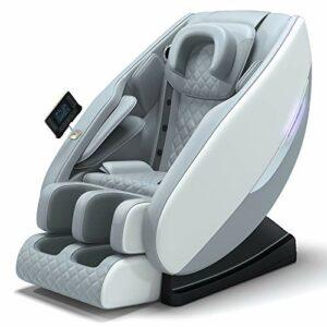 Fauteuil de massage électrique avec Contrôleur LCD,Chaise De Massage Multifonction Full Body Massage,technologie SL track, haut-parleurs Bluetooth,Chauffage dorsal, rouleau de massage