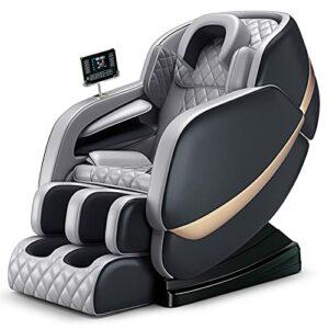 Fauteuil de massage électrique Zero Gravity pour tout le corps avec fonction chauffante Airbags Massage du corps entier Fauteuil relaxant pour la maison et le bureau