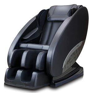 Fauteuil massant pour tout le corps, 4 méthodes de massage Véritable Chaise De Massage en Zero-gravity,Fauteuil de massage électrique 3D, technologie SL track, haut-parleurs Bluetooth,Noir