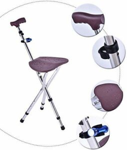 FYRMMD Tabouret Pliant Pratique avec siège de Massage Rotatif à Hauteur réglable et Lampe de Poche à LED et Fournitures de Voyage ergonomiques Mas