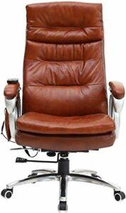JYHS Fauteuil de massage ergonomique en cuir – Couleur : marron