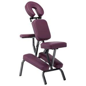 Lifcasual Fauteuil de massage Similicuir Bordeaux rouge 122x81x48 cm