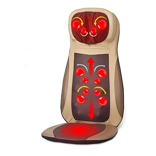 Massage du Dos Siège de Massage Coussin Massant pour Entier Dos et Cou siège chaise de massage tapis de cou réglable en hauteur pour maison