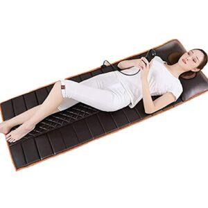 Masseur Multifonctionnel De Coussin De Massage Chauffant pour Le Corps Entier, Coussin De Matelas De Massage avec 10 Moteurs Vibrants, Soulage Le Stress