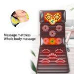 Matelas de Massage 9 Niveaux de Réglage de la Force Coussin de Massage Corporel Multifonctionnel Tapis de Massage Corporel Pliant pour Dos épaule Cou(EU)