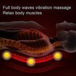 Matelas de Massage Chauffant électrique pour Tout le Corps, Tapis de Chaise de Massage par Vibration pour le Corps Entier, pour le Cou, le Dos, la Taille et les Jambes(EU)