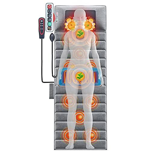 Matelas de massage Coussin de massage chauffant confortable Coussin de massage cou épaule dos Coussin de massage domestique Coussin de massage pliable/D