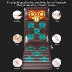 Matelas de Massage électrique Chauffant pour Tout le Corps, 9 Niveaux de Massage, Tapis de Massage par Vibration Réglable avec Soulagement de la Douleur au Cou, au Dos, à la Taille et aux Jambes(EU)