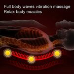 Matelas de Massage électrique Chauffant pour Tout le Corps, 9 Niveaux et Modes de Massage Tapis de Massage par Vibration Réglable, pour le Soulagement de la Douleur au Cou, au Dos, à la Taille(EU)