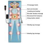 Matelas de massage électrique domestique Coussin de massage cervical et lombaire avec fonction chauffante Le coussin de massage peut soulager la douleur, adaptéà une utilisation au bureau à domi