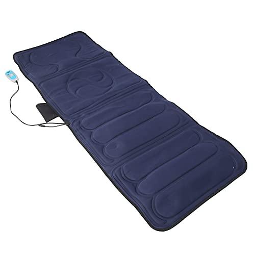 Matelas de Massage Intensité et Fréquence Réglables Coussin de Massage Corporel Pliant Multifonctionnel Tapis de Massage Corporel pour Dos épaule Cou(EU)