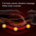 Matelas de Massage Multifonctionnel Dos Cou Épaule Tapis de Massage Intensité Réglable Vibration Chauffage Coussin De Massage Du Corps(EU)