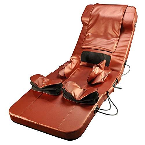 N A Nouveau Matelas De Massage avec Haut-Parleur Bluetooth, Massage Et Chauffage De Pétrissage Coussin De Massage À Airbag, Matelas De Massage Multifonctionnel Complet du Corps