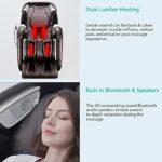Naipo 3D Fauteuil de massage shiatsu fauteuil massant inclinable en zero-gravity pour un massage du corps entier, Chaise masseur avec fonction de chaleur, USB, Bluetooth, Fauteuil relaxant électrique