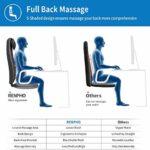 Siege Massant Shiatsu en forme de S, RENPHO Coussin de Siège de massage du dos massage Chaise de massage Shiatsu avec chauffage pour massager le épaule et dos