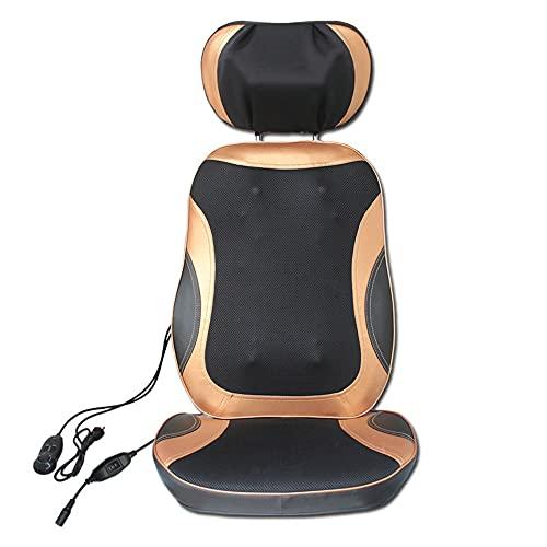SOFACTY Massage du Dos Siège De Massage Coussin Massant pour Entier Dos Et Cou avec 3 Zones De Massage Fonction Chaleur Fonction Lumière Rouge Massage De La Nuque Réglable en Hauteur