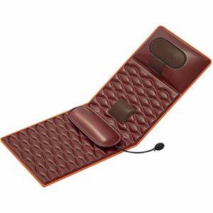 Tapis de massage avec chaleur, tapis de massage avec fonction de chaleur de vibration de vague coussin de matelas de massage, coussin de masseur complet pour le cou, le dos, la taille, les jambes