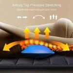 Tapis de massage complet du corps, tapis de massage chauffant avec 20 têtes de massage à pétrissage Shiatsu du cou, tapis de massage pour matelas de massage complet du corps pour soulager douleurs