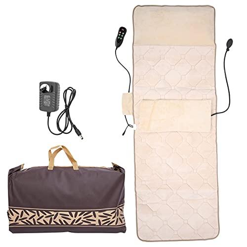 Tapis de Massage Complet du Corps Thérapie Domestique Coussin Chauffant Matelas de Massage Multifonctionnel pour Cou Dos Taille Dos avec Sac de Rangement(EU Plug)