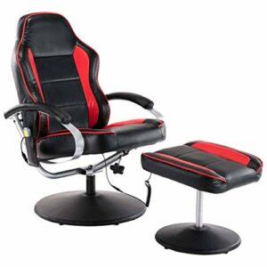 vidaXL Fauteuil de Massage avec Repose-Pied Electrique Chaise de Massage Bureau Salon Salle de Séjour Chambre à Coucher Maison Intérieur Similicuir