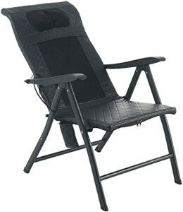 VONOYA Fauteuil de massage électrique à 6 Nœuds Shiatsu pliable pour le soulagement du cou et du dos, chaise inclinable avec massage pour la maison et le bureau