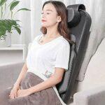 ZOUSHUAIDEDIAN Back Massager avec Heat -deep Massage Tissue Coussin de siège de massage, coussinet de chaise de massage for soulagement du mal de dos complet, masseur de corps électrique for la maison