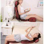 ZOUSHUAIDEDIAN Masseur au cou, coussin de siège de massage au dos avec chaleur for la chaise, pétrissage profond rouleau et vibration – Masseur de dos complet for l'utilisation de bureau à domicile, c