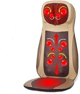 Coussin de massage Shiatsu – Siège de massage Shiatsu – 70 W – Avec télécommande – Pour le bureau, la maison et partout – Beige