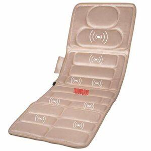 CZYNB Matelas de massage à haute fréquence, vibration simple, contrôle à distance, thérapie par la chaleur, massage à dos plat