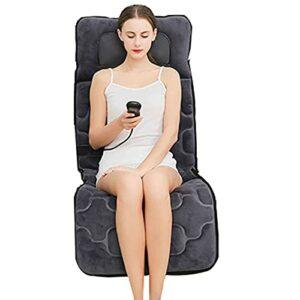 Damian-Sewing Coussins de Massage électriques 10 Moteurs de Vibration Coussin de Matelas de Massage Coussin de Massage Complet du Corps Soulager Le Cou et la Taille des Jambes