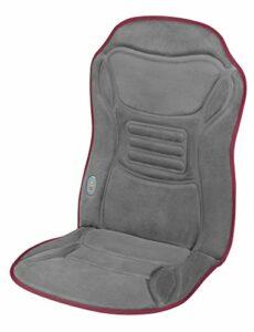 Ecomed MC-85E Housse de siège de massage – Housse de massage à vibration avec fonction chaleur – Housse de massage avec 2 niveaux d'intensité – Pour de tout le dos – Convient pour et la voiture -23300