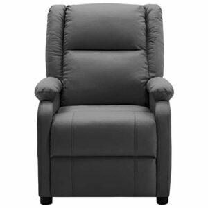 Ksodgun Fauteuil de Massage Inclinable Fauteuil de Relaxation Inclinable Electrique Salon Salle de Séjour Maison Intérieur Anthracite Similicuir